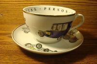 A Princess House Exclusive * Vintage Cars * Fine Porcelain Cup & Saucer