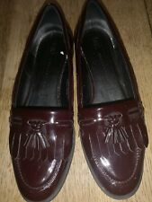 M&S Collection insolia Womens Burgundy Patent Leather Loafers Size 5