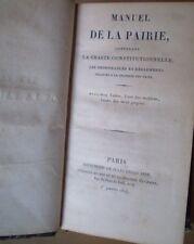 RESTAURATION/PAIRS/MANUEL DE LA PAIRIE/E.O. 1824/+ 2 SUPPLÉMENTS/table des noms