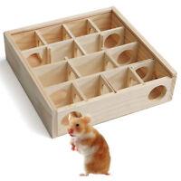Holz Hamster Labyrinth Spielzeug Haus Cage Spielplatz mit Glasabdeckung