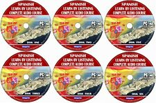 Spanish Language Course Learn By Licensing From Beginners To Advance 6x Audio CD