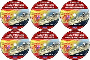 Spanish Language Course Learn By Listening From Beginners To Advance 6x Audio CD