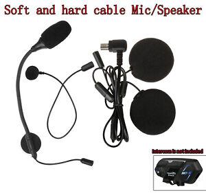 For M1-S Pro Motorcycle Bluetooth Intercom Headset Headphone Earphone w/ Speaker