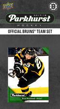 Boston Bruins 2017 18 2018 UPPER DECK parkhurst Factory equipo Set CHARA Rask