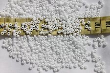 8/0 Czech Opaque White  Glass Seed Beads Crafts Jewelry Making/1oz