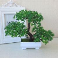 Bonsai Tree Pot Artificial Plant Decoration Green Home Office Desk Windowsill