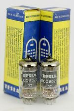 NOS TESLA ECC802S 6189 PRE-WAR MATCHED PAIR TUBES TESTED SELECT TROPHY MODEL OVP