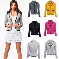 Women OL Work Long Sleeve Slim Fit Fashion Blazer Suit Jacket Coat Outwear S-6XL