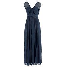 VILA Damen Kleid 14033888 Cotina Maxi Dress Total Eclipse / L / Abendkleid, Lang