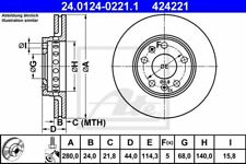 2x Bremsscheibe Bremse original ATE (24.0124-0221.1)