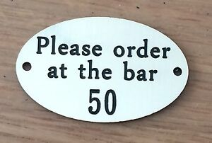 Engraved Ovals - Table numbers Pubs Restaurants Clubs