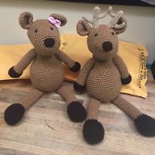 Handmade crochet troll toy