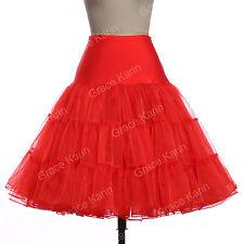 """New Vintage Petticoat 26"""" Retro Underskirt 50s Swing Fancy Net Skirt Rockabilly"""