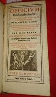 1685. LA SETTIMANA SANTA SECONDO GIROLAMO GIOVANNINI BOLOGNESE + COPERTINA