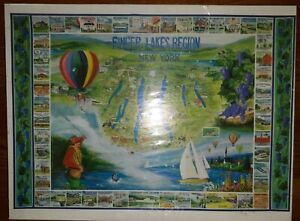 NIP Finger Lakes Region 1000 Piece Jigsaw Puzzle 24x30 White Mountain