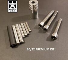 Ruger 10/22 PREMIUM Upgrade Kit: Buffer, Bedding Pillar, VBlock/Take Down Screws