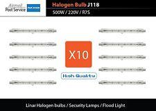 X10 J118 500W 220V Linear Halogen Bulbs Security Lamps Flood Lights R7S 118mm