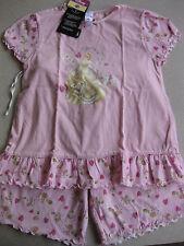 Schlafanzug Pyjama Disney Princess Gr. 128 NEUWARE 2-teilig wunderschön