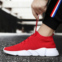 Men's Walking Sneakers Knit Breathable Lightweight Footwear Sports Gym Shoes