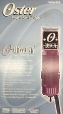 Brand New Oster Classic 76 Barber Hair Clipper 76076-010