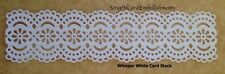 • • • Die Cuts ~ WIDE LACY BORDER White ~ Stampin Up C/S ~ Cards ~ Scrapbooking