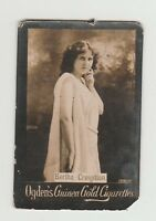 Ogdens Guinea Gold Base M Actors & Actresses List Mh MC210 - Bertha Creigitton