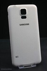 Original Samsung Galaxy S5 G900F Akkudeckel weiss Rückabdeckung Battery Door ...