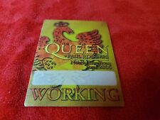 Vintage Queen & Paul Rodgers North American Tour 2006 Working Backstage Pass