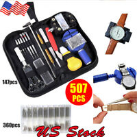 507pcs Watch Repair Tool Kit with Spring Bar Watchmaker Back Case Opener Remover