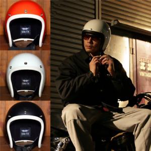 Japan New Style TT&CO 3/4 Helmet 500TX Motorcycle Helmet with Googles Vintage