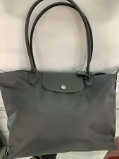 NWT Authentic LONGCHAMP Le Pliage NEO Small Shoulder Bag Gunmetal Gray Tote $175