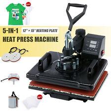 12x15 5 In 1 Combo Heat Press Machine Digital Transfer Sublimation Mug T Shirt