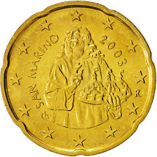 [#99158] San Marino, 20 Euro Cent, 2003, MS(63), Brass, KM:444