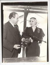 Mae West w/Tommy Gun Photo from Original Negative