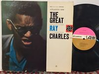 Ray Charles The Great VG+ MONO PINK/TAN ATLANTIC amazing