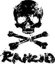 Rancid- SKULL Patch / Aufnäher NEU weiss Punk Punkrock Oi Skinhead Tim Armstrong
