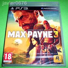 MAX PAYNE 3 NUEVO Y PRECINTADO PAL ESPAÑA PLAYSTATION 3