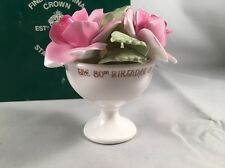 Crown Staffordshire Roses Bouquet Flower Display Queen Mother 80th Birthday 1980