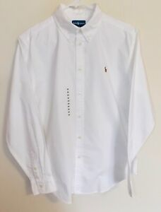 Boy's Polo Ralph Lauren Long Sleeve Oxford Button Up White (20) NWT