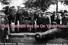 HA 157 - Russian Gun, Winchester Riot, Hampshire 1908 - 6x4 Photo