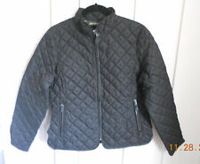 Eddie Bauer 75% Down Quilted Zipped Jacket Sz Petite M