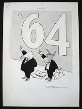BACKDROP  OCT 10,1962 11X15 INCHES ORIGINAL ARTWORK BY NED WHITE HV7876 Comic Art