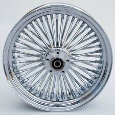 """Chrome Ultima 48 King Spoke 16"""" x 3.5"""" Rear Wheel for Harley & Custom Models"""