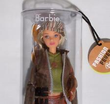 Fashion Fever Barbie Tube Doll Blonde Hair Striped Beret 2004