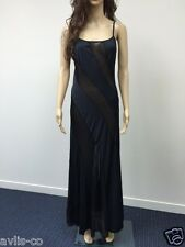 XL Frederick's of Hollywood Lingerie black sheer ILLUSION NIGHT GOWN NEW WT