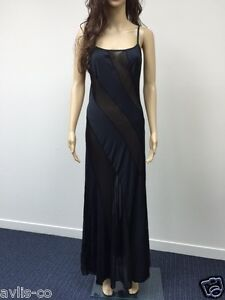 Small Frederick's of Hollywood Lingerie black sheer ILLUSION NIGHT GOWN NEW WT