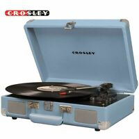 CROSLEY VINYL RECORD PLAYER VOYAGER DELUXE BLUETOOTH 3 SPEED TURNTABLE BLUE NEW