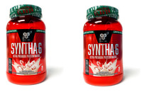 BSN Syntha-6 Premium Protein Powder 2.91 lb 28 Servings CANDY CANE - 2 PACK SALE