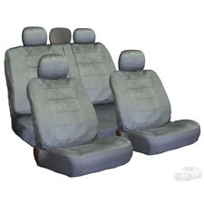 PREMIUM GRADE GREY VELOUR FABRIC CAR SEAT COVERS SET FOR MERCEDES