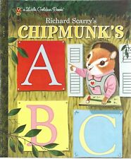 CHIPMUNK'S ABC Little Golden Book NEW Richard Scarry CLASSIC Chipmunk A B C Read